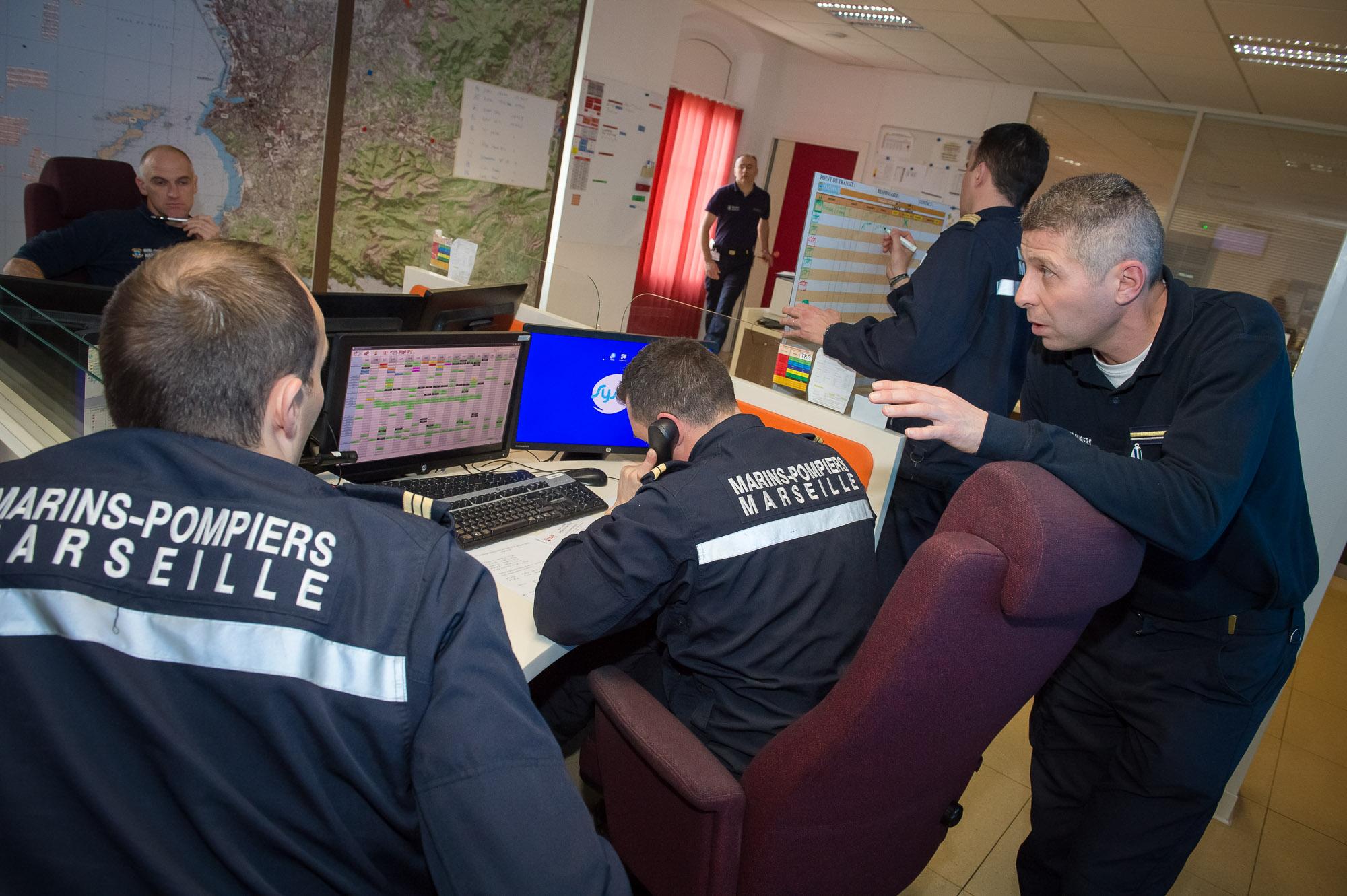 Exercice ALerte ATtentat (ALAT) au sein du Centre Opérationnel des Services de Secours et d'Incendie de Marseille(COSSIM).